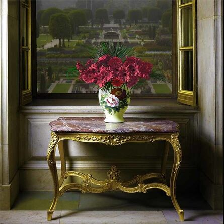 T.M. Glass, 'Rashtrapati Bhavan (Presidential Residence) Ballroom Window Overlooking a Mughal Garden', 2018