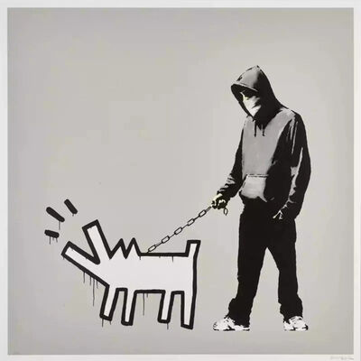 Banksy, 'Choose Your Weapon (Queue Jumping Grey) (Signed)', 2010