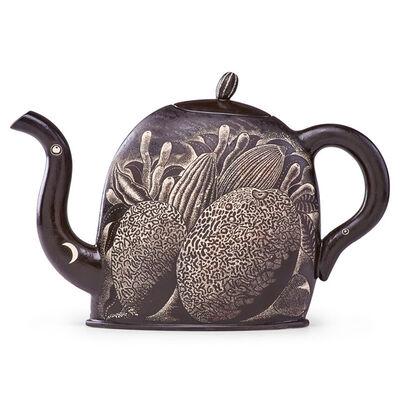 Kurt Weiser, 'Night Garden teapot with melons and foliage, Tempe, AZ', ca. 1997