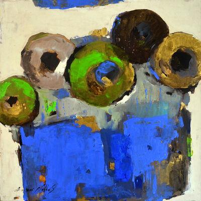 Ammar Alnahhas, 'Flowers in a blue vase', 2021