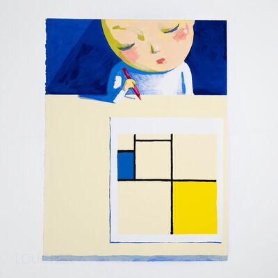 Liu Ye 刘野, 'She and Mondrian (Signed)', 2001