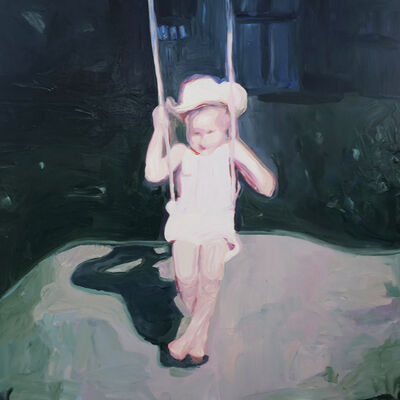 Lisa Golightly, 'Swing with Cowboy Hat', 2021