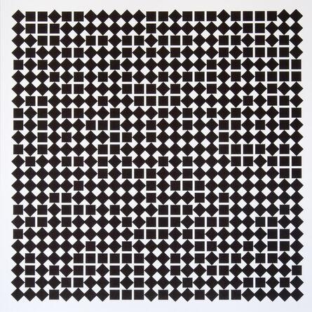 Vera Molnar, 'Carrés en deux positions 2', 2013