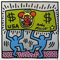 Keith Haring, ''Andy Mouse III'', 1993
