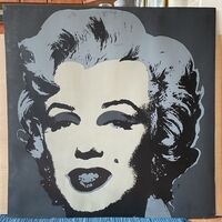 Andy Warhol, '1970s Sunday B Morning EARLY Black Stamp Serigraph of Marilyn Monroe in Grey Tones - BLACK STAMP - Designed by Andy Warhol Published by Sunday B. Morning', ca. 1970s