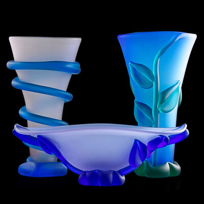 Tommie Rush, 'Two large Botanical vases and one Botanical bowl, Knoxville, TN'