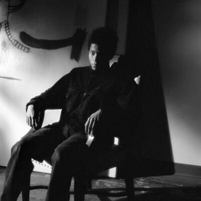 Jeanette Montgomery Barron, 'Jean-Michel Basquiat, studio, NYC', 1985