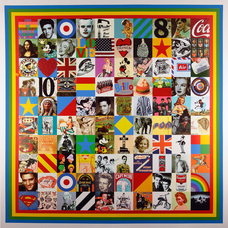 Peter Blake, '100 Sources of Pop Art', 2014