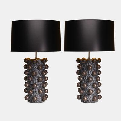 Peter Lane, 'Cabochon table lamps, pair', c. 2010