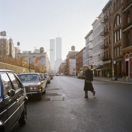 Janet Delaney, 'La Guardia Place looking toward Twin Towers, 1984', 2021