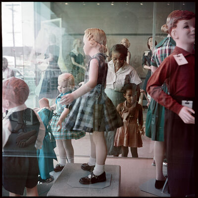 Gordon Parks, 'Ondria Tanner and Her Grandmother Window-shopping, Mobile, Alabama', 1956