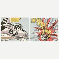Roy Lichtenstein, 'WHAAM! poster (diptych)', 1963 / 1968