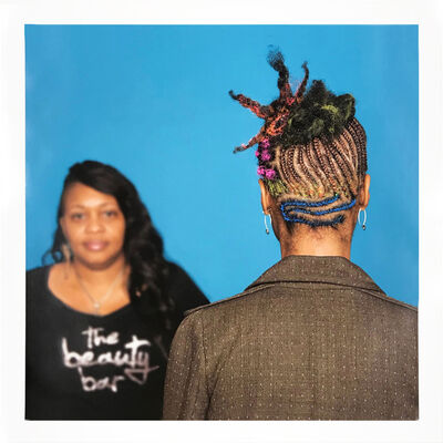 Sonya Clark, 'Hair Craft Project with Ingrid', 2014