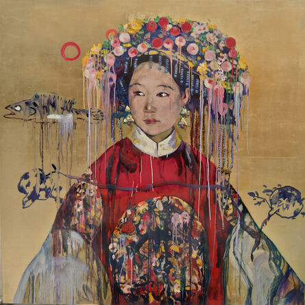 Hung Liu 刘虹, 'Manchu Bride', 2018