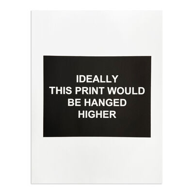 Laure Prouvost, 'Ideally This Print Would be Hanged Higher', 2016