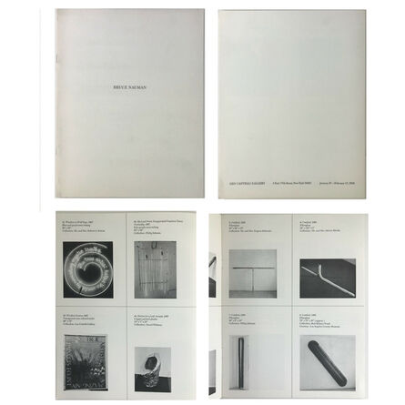 "Bruce Nauman, '""Bruce Nauman"", 1968, Exhibition Catalogue (44 works), Leo Castelli Gallery New York, NEAR MINT++++ CONDITION', 1968"