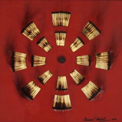 Bernard Aubertin, 'Dessin de Feu sur Table Rouge', 2010
