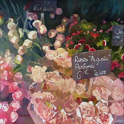 Jann Pollard, 'Paris Flower Market', 2018