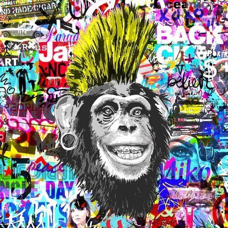 Christophe Catelain, 'Crazy Yellow Monkey', 2019