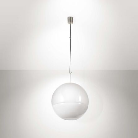 Carlo Nason, 'A pendant lamp in Murano glass with brass elements', 1970 ca.