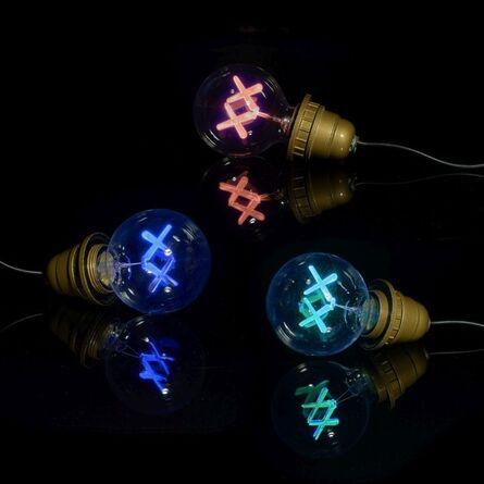 KAWS, 'Standard Lightbulbs (Red, Purple, & Green)', 2011