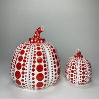 Yayoi Kusama, 'ICONIC Large 8'' Tall Yayoi Kusama, Large White & Red Resin Pumpkin', ca. 2015 -present