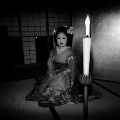 Toshio Enomoto, '091-Maiko Ichimame lit up by a candle', 2008