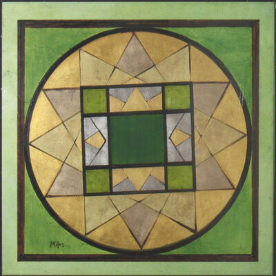 Jeanne Miles, 'Green Mandala', 1975-1981