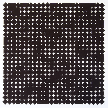 Vera Molnar, 'Carrés en deux positions 4', 2013