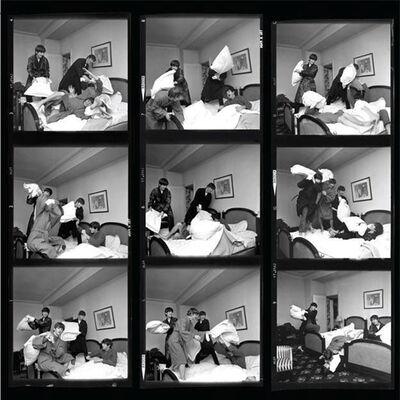 Harry Benson, 'The Beatles Pillow Fight (Contact Sheet), Paris', 1964