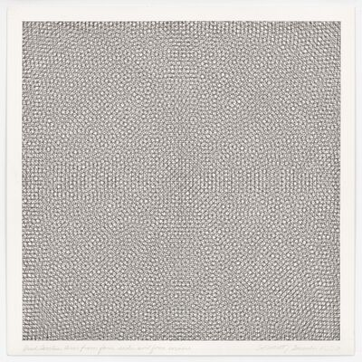 Sol LeWitt, 'Grids, Circles, Arcs From Four Sides and Four Corners', 15 December 1971