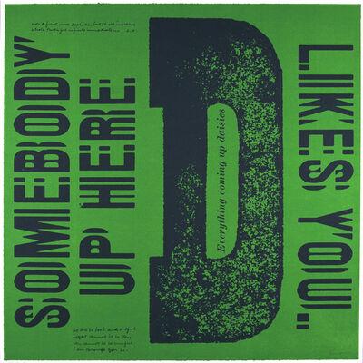 Corita Kent, 'D everything coming up daisies', 1968