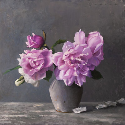 James Zamora, 'Dappled Light with Pink Florals', 2020