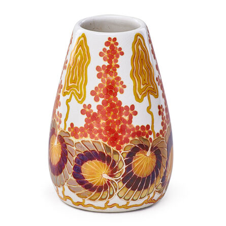 Zsolnay, Pècs Factory, 'Vase With Stylized Flowers, Pecs, Hungary', ca. 1900