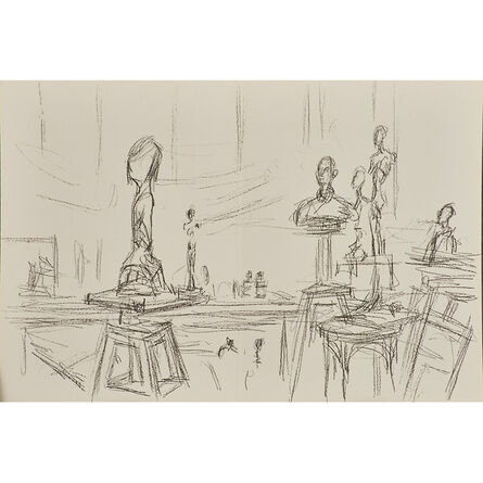 Alberto Giacometti, 'Three bifold pages with lithographs from Derrière le Miroir', 1961