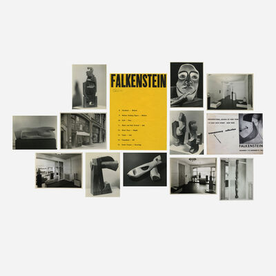 Claire Falkenstein, 'collection of eleven photographs and gallery mailer', 1940-43