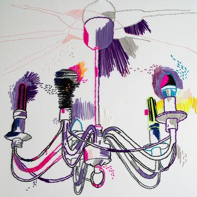 Tanya Akhmetgalieva, 'Flicker III. Fragment. Textiles, embroidery, threads.'