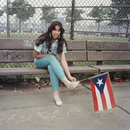 Janet Delaney, 'Puerto Rican Flag, East River Park, 1985', 2021