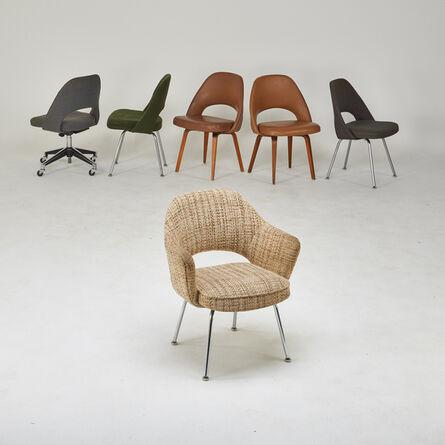 Eero Saarinen, 'Assembled set of six chairs, one arm five side', 1950s/60s