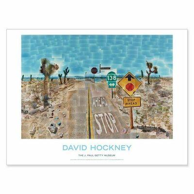 David Hockney, 'DAVID HOCKNEY POSTER Pearlblossom Highway 1986 Photograph Collage Huge Brand New', 2020