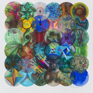 Wu Jian'an 邬建安, '36 Color Balls (Parallelogram 2) 36 颗彩色圆球(倾斜的方形 2)', 2018