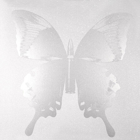 Rubem Robierb, 'Pearl Butterfly on White', 2014