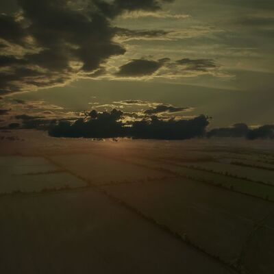 Mark Bartkiw, 'Divide - dream-like aerial photograph with sunlit clouds', 2020
