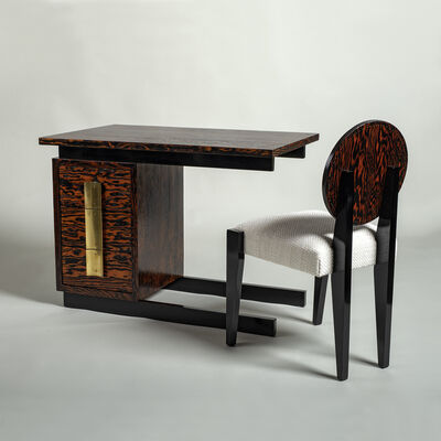 André Sornay, 'Small desk in suspension and its chair', ca. 1935
