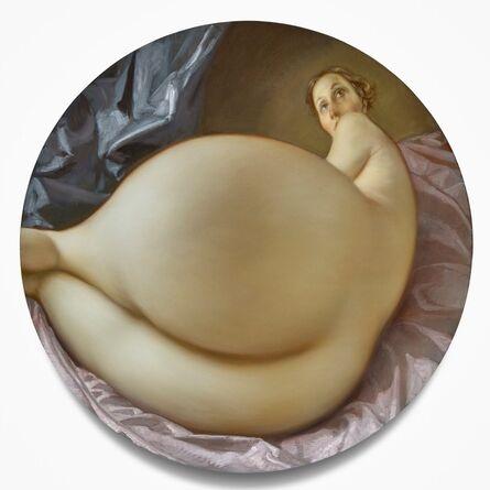 John Currin, 'Nude in a Convex Mirror', 2015