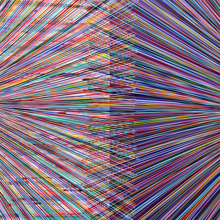 Bradley Harms, 'Dual Event (Square Multi Blue)', 2016