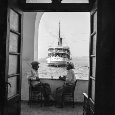 Robert McCabe, 'Thera, The Aegaion in port below Fira', 1955