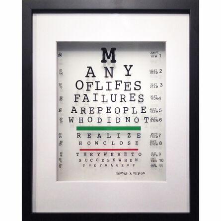Michael Suchta, 'Thomas Edison Eye Quote', 2017
