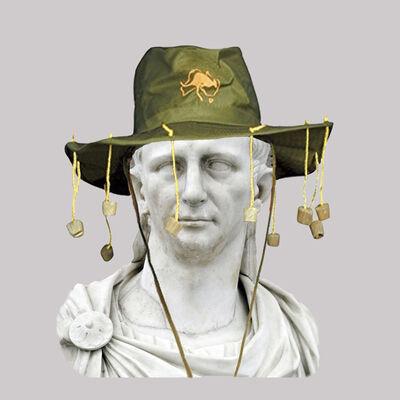 Cecilia Miniucchi, 'Roman Emperor Claudius/Australian Hat with Corks and String', 2018