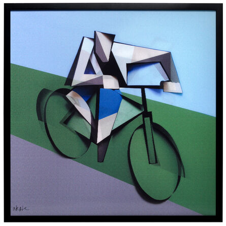 Adam Neate, 'ITI_02 THE CYCLIST Dimensional Edition (a limited edition of 150 pieces)', 2014